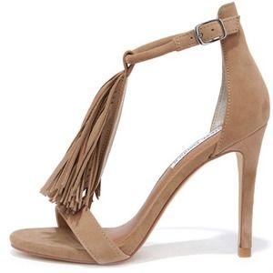 Steve Madden Sashi Suede Fringe Dress Sandals